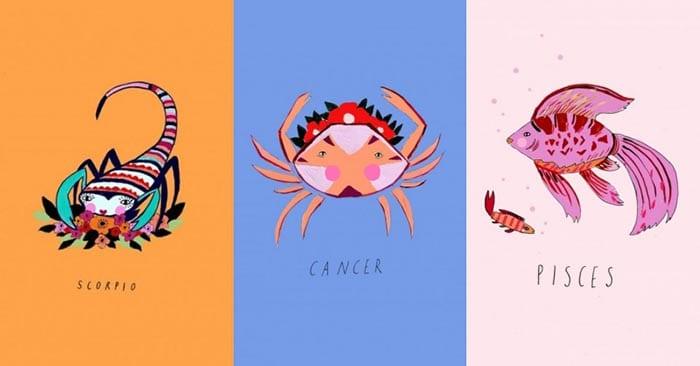 星座#雙魚、天蠍、巨蟹:當月亮落在水象星座的你- 520cc